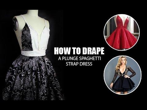 How to Drape a Plunge Spaghetti Strap Dress