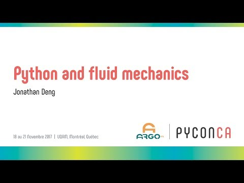 Python and fluid mechanics (Jonathan Deng)