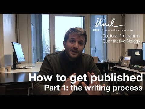 How To Get Your Scientific Paper Published: The Writing Process