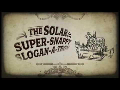 The Solar Super Snappy Slogan-A-Tron: Animated Steampunk Commercial 9