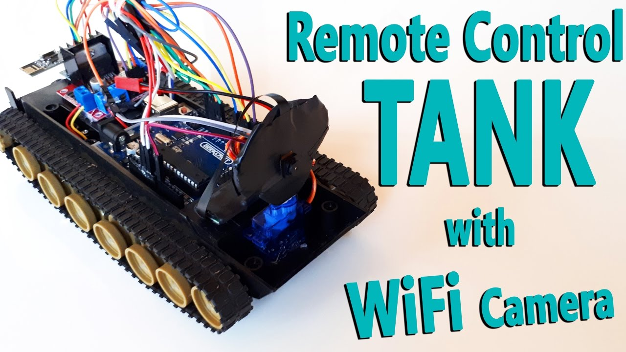 Arduino Remote Control Tank with WiFi Camera   nRF24L01  YouTube