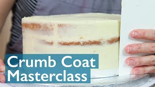 How to Crumb Coat a Layer Cake!