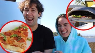 SURPRISING HIM WITH A PIZZA OVEN FOR THEIR HOUSE!!
