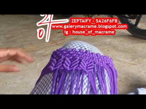 Tutorial Tas Tali Kur Membuat Motif Butterfly atau kupu kupu by zeptaifyx