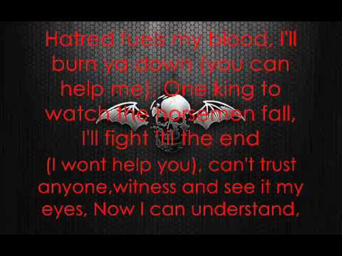 Avenged Sevenfold - Burn It Down [Lyrics]