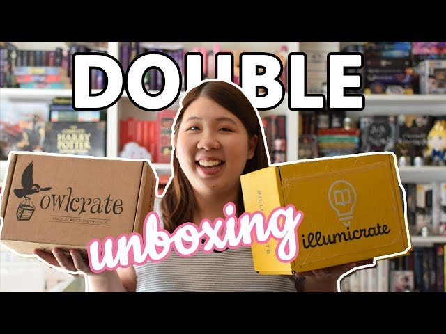 DOUBLE UNBOXING: Illumicrate & Owlcrate Book Boxes | April 2019 🦉