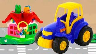 Играем с игрушками в Центре развлечений для детей. Видео для малышей