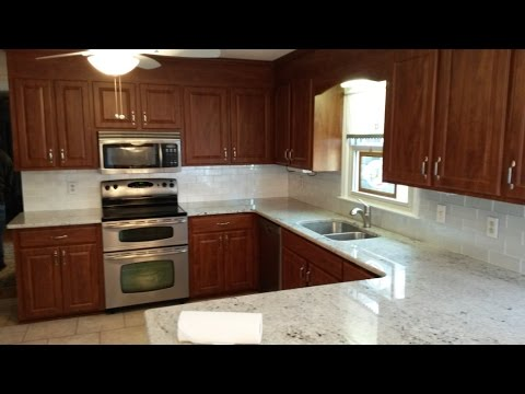 Colonial White Granite Counter tops Installed 1 29 16 - YouTube