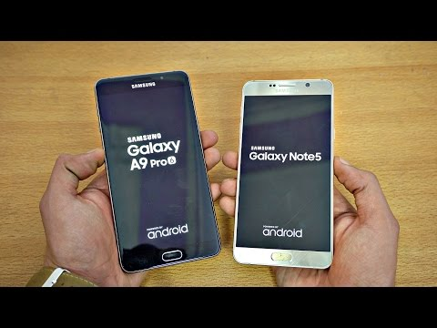 Samsung Galaxy A9 Pro (2016) vs Galaxy Note 5 Grace UX - Speed Test! (4K)