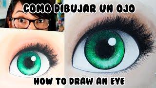 CÓMO DIBUJAR UN OJO con Colores Pastel (English Subs)   Diana Díaz
