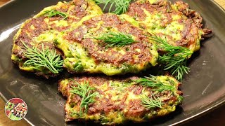 Оладьи из кабачков с зеленью, яйцом, сыром. Просто, вкусно, недорого!