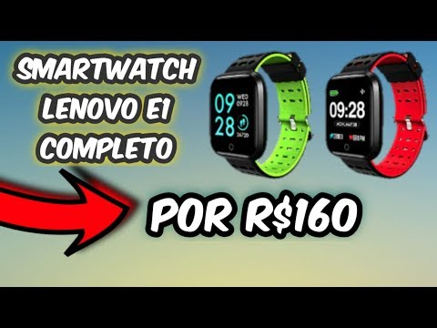 SMARTWATCH DA LENOVO E1 - REVIEW COMPLETO