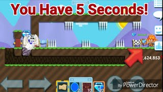 You Have 5 Seconds To Win Blue Gem Lock! OMG! (YOU FAIL, YOU LOSE!) - Growtopia