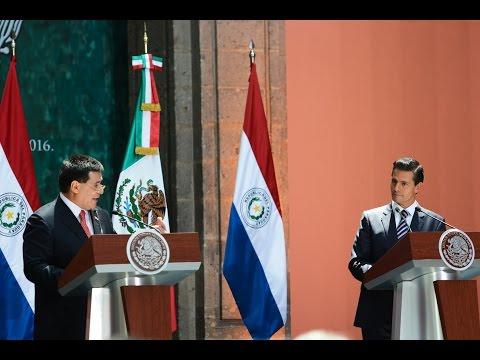 Visita Oficial del Presidente de Paraguay, Horacio Cartes Jara: Mensaje a Medios