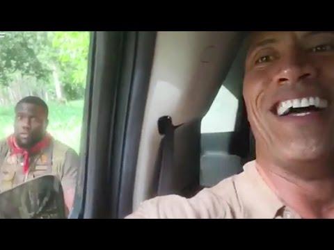 Kevin Hart Rips Into Dwayne 'The Rock' Johnson On Set of 'Jumanji'