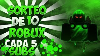 💀#ROBLOX/#FREEFIRE💀SORTEO 10 ROBUX EVERY 5 SUBS! PLAYING WITH SUBS