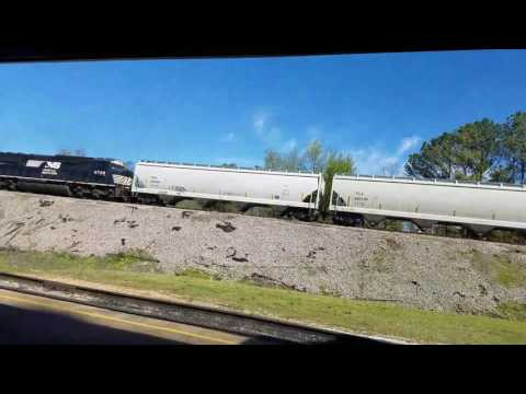 Norfolk Southern freight train at the Tennessee Valley Railroad Museum featuring Dylan Mullins