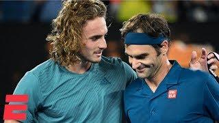 Roger Federer loses to Stefanos Tsitsipas in 4 sets | 2019 Australian Open Highlights