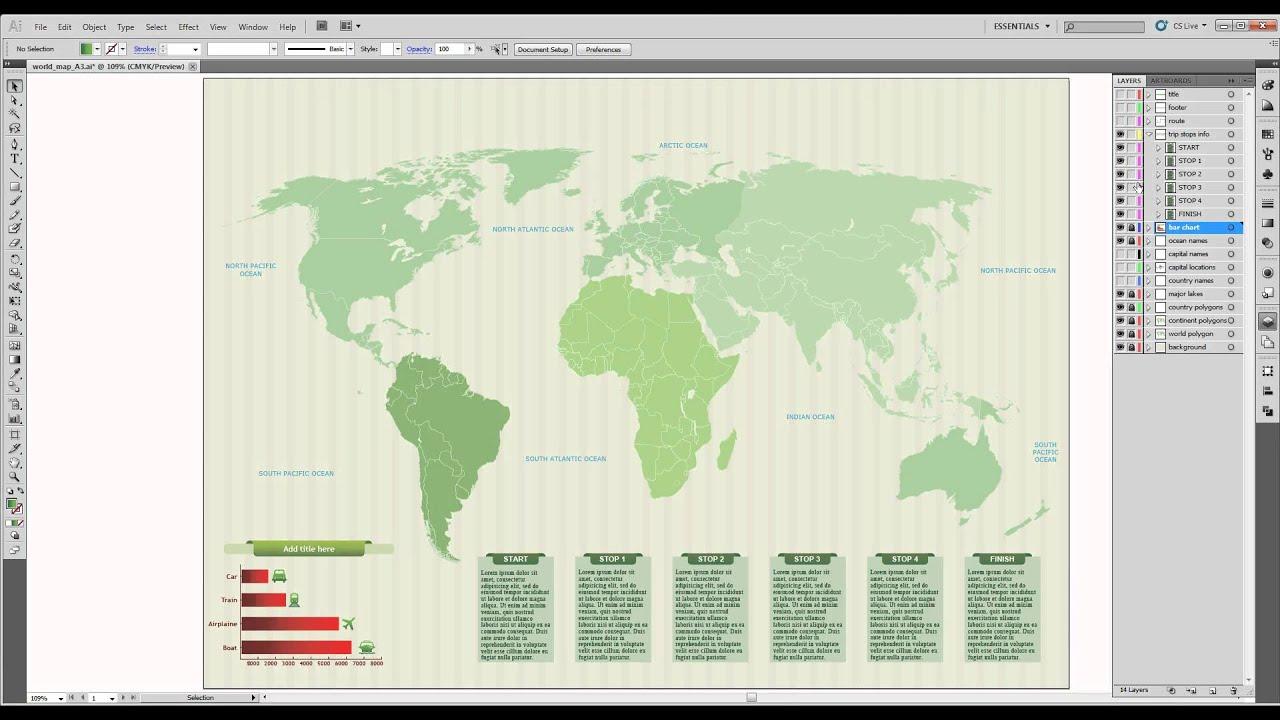 World vector map 2  YouTube
