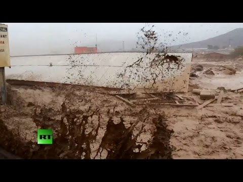 RAW: Driest desert in South America deluged with deadly floods