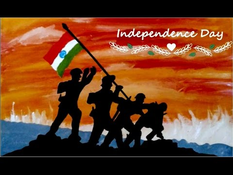Happy Independence Day Beautiful Oil Painting 2017 Tutorial