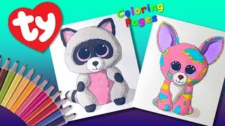 Coloring Ty Beanie Boos Cancun & Rocco #ColoringPage TOUCH Markers  #LearnColors #ForKids