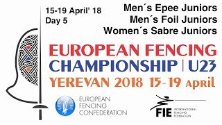 Day 05 2018 European fencing championships U23 - Finals