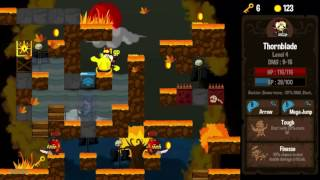 Vertical Drop Heroes HD Vita Gameplay
