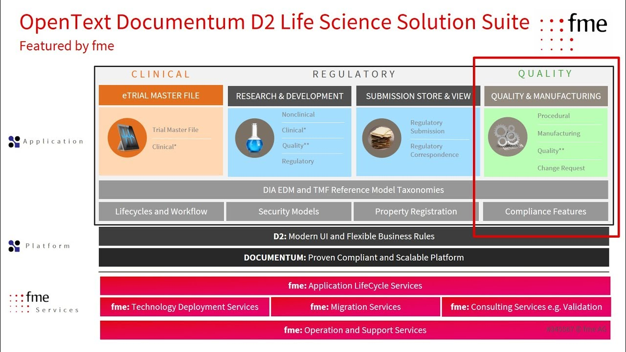 OpenText Documentum Life Sciences Solution Suite #2 Quality & Manufacturing  2017 09 13