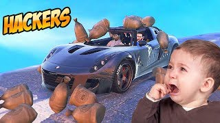 OS HACKERS MAIS ZOEIROS DO GTA V ONLINE!