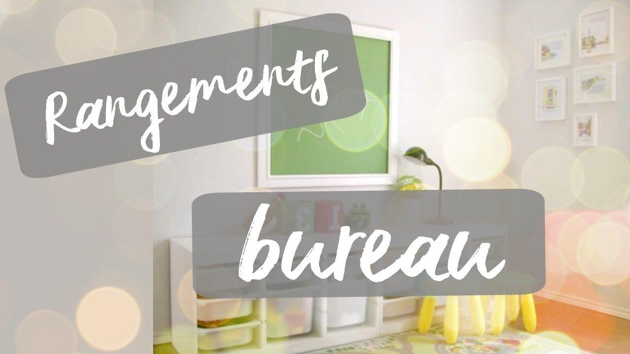 ASTUCES RANGEMENTS DE BUREAU - YouTube
