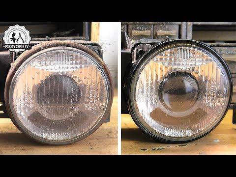 BMW E30 Headlight Restoration   BMW E30 325i Sport Restoration E6 S1