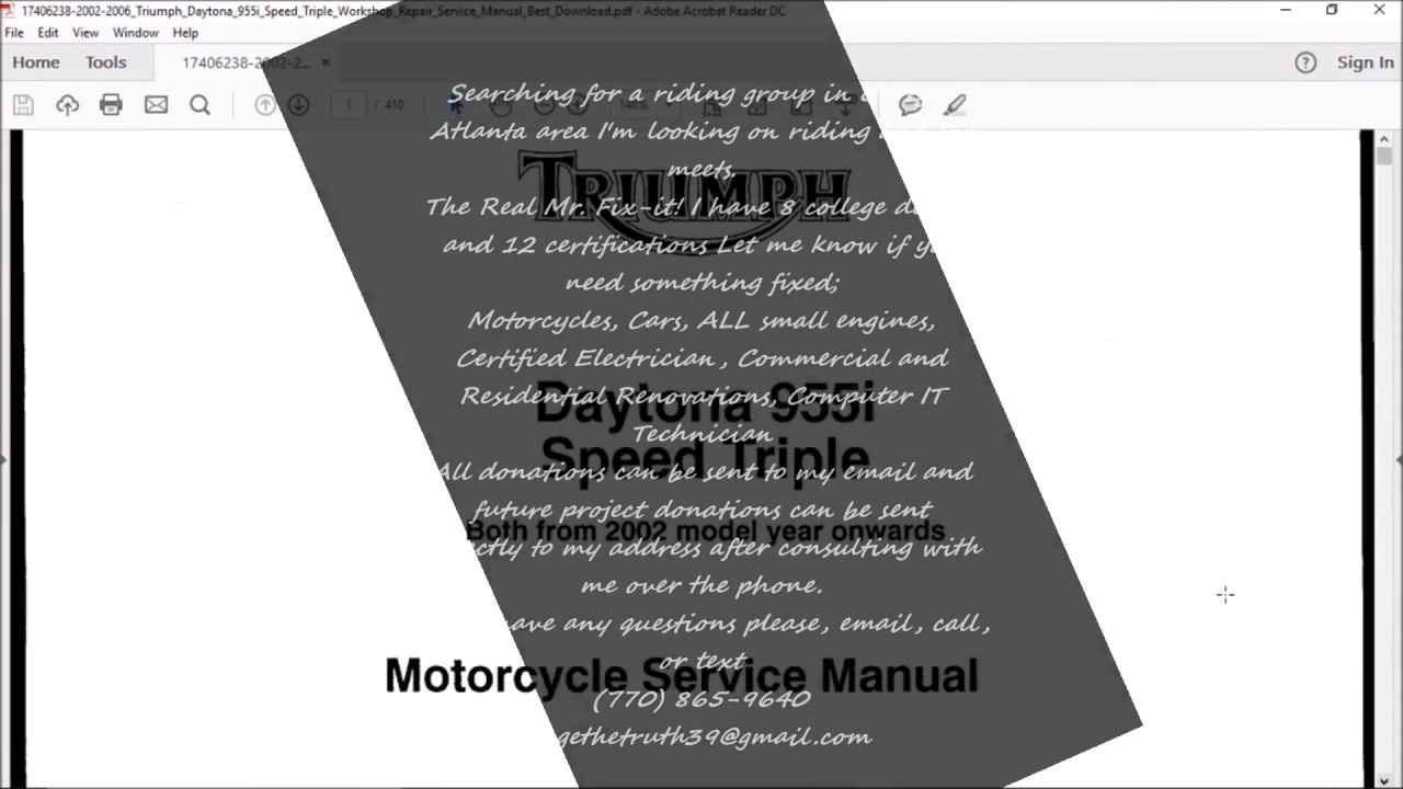 manual daytona 955i