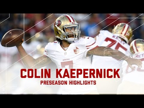Every Colin Kaepernick Throw & Run | 49ers vs. Chargers | NFL 2016 Preseason Highlights