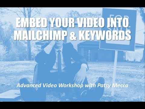 Advanced Video Class: Embed Video and Keyword Planner