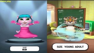 My Talking Angela VS My Talking Tom Gameplay Great Makeover for Children HD