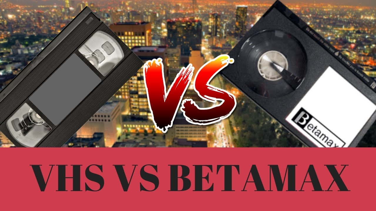 betamax and vhs are associated with what