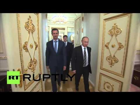 Russia: Assad and Putin sit down for dinner in Moscow