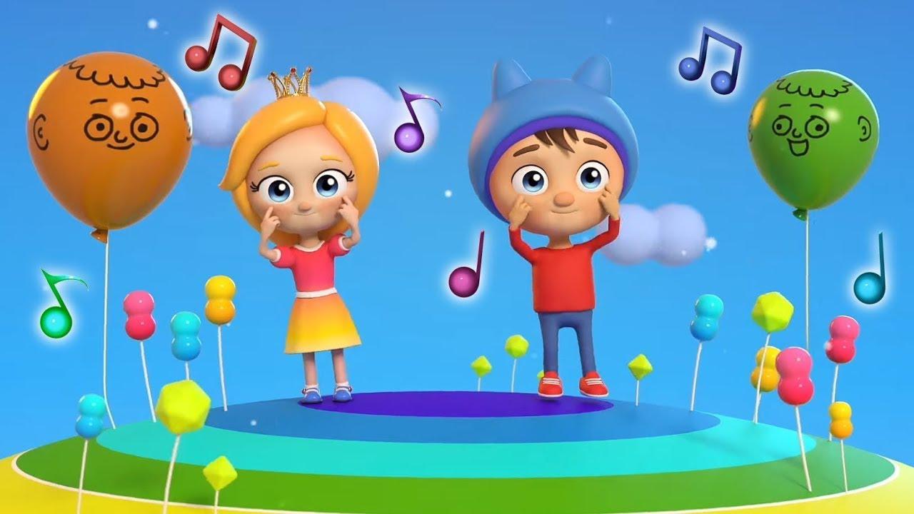 Ушки, глазки, нос и рот - Веселые детские песенки Сина и Ло. Мультики для малышей