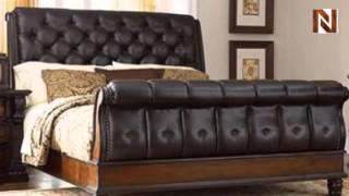 Grand King Sleigh Bed C7102-53-54-58 By Fairmont Designs