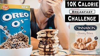 10,000 CALORIE BREAKFAST CHEAT DAY CHALLENGE | PREP FOR THE 20,000 CALORIE CHALLENGE
