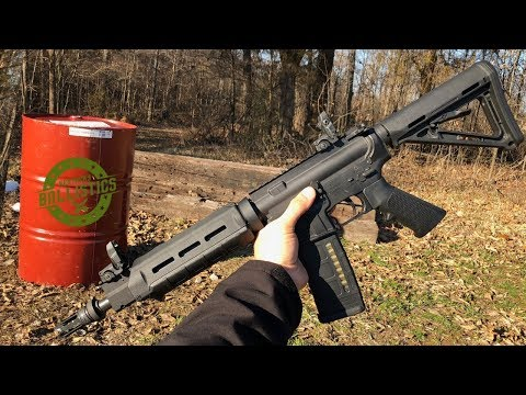 Full Auto AR-15 vs Steel 55 Gallon Drum (Full Auto Friday)