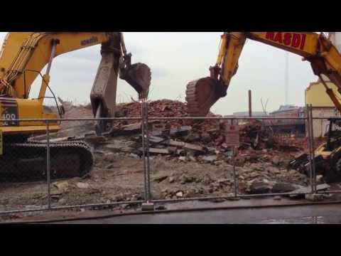 Badass demolition site: Boston North End, AKA: 5 Dinosaurs Ripping Apart and Eating a Carcass