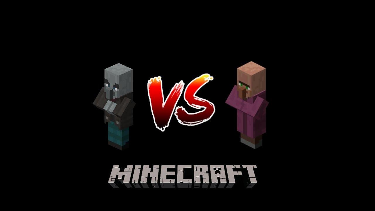 Minecraft - Vindicator vs. Villager - YouTube