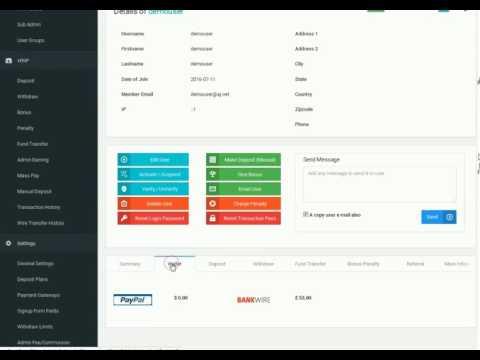Pro HYIP Software - Payment Gateway Settings
