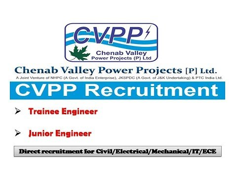 Trainee Engineer/Junior Engineer | CVPP Recruitment 2017