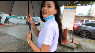 Meet Thai college girl in night market preview (July 15)