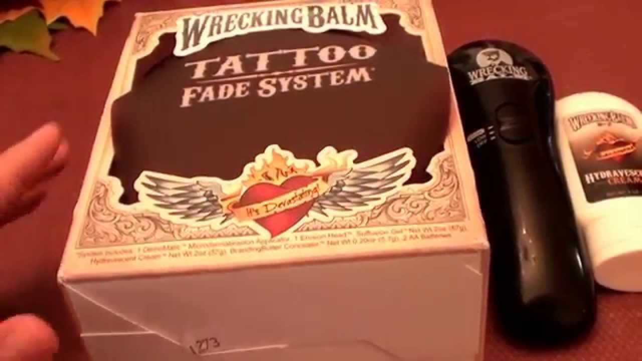 TATTOO REMOVAL? Wrecking Balm Tattoo Fade System RESULTS/REVIEW ...