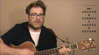 How to play Sixteen Tons by Tennessee Ernie Ford on acoustic guitar