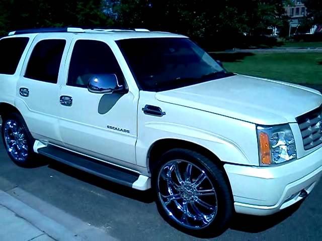 02 cadillac escalade white diamond pearl sitting on 24 wheels youtube 02 cadillac escalade white diamond